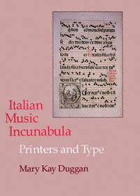 Italian Music Incunabula