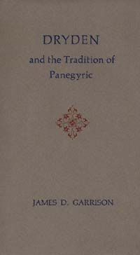 Dryden and the Tradition of Panegyric 8c3635f391
