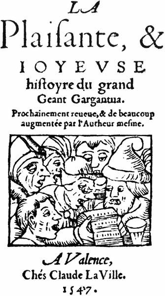 Anonymous Title Page Rabelais Gargantua Valence Claude La Ville 1547 Phot Bibl Nat Paris